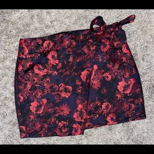 Express Floral Mini Skirt